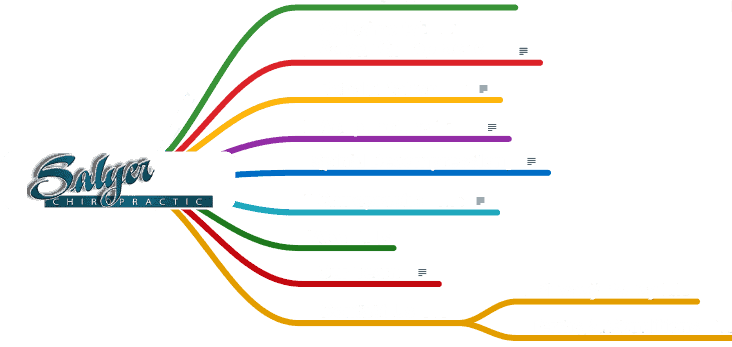 Tree structure of Salyer Chiropractic website pages on sitemap
